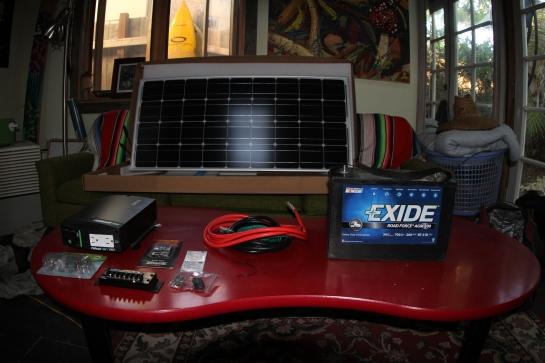My new experimental solar set-up