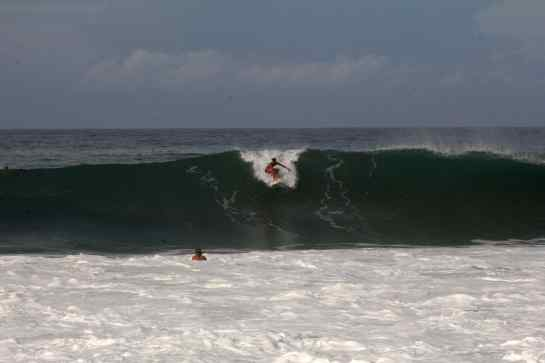 1. Tacho takes the prize for biggest wave of the day dropping into this bomb.