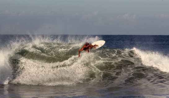 Here is another very dynamic shot of Martin doing an off the top turn.