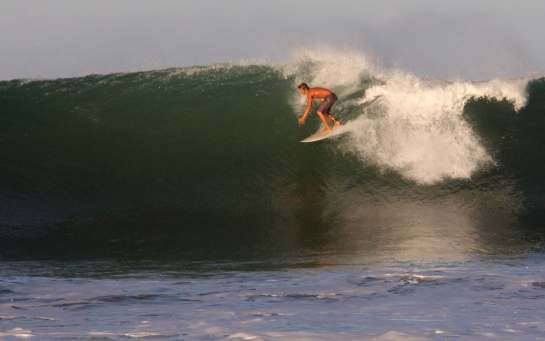 Here is my friend Carlos dropping in on a big bombing right.