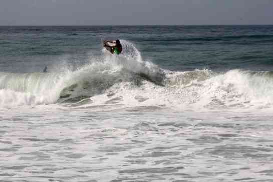 3. After getting barreled he launches into a huge air.