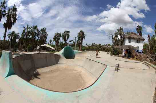 After surfing we go to the skate park to eat some carne asada, have a beer, and check out the photos of the days surf. The park is huge. I have never seen a park this size.